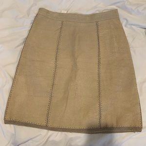Dresses & Skirts - Vintage Creme Leather Skirt